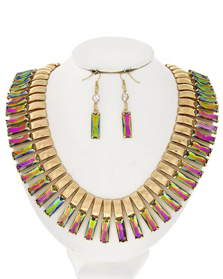 Multi-Color Statement Necklace-