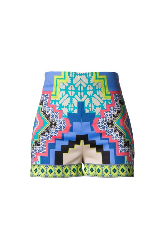 Brits Highwaisted Tribal Shorts-