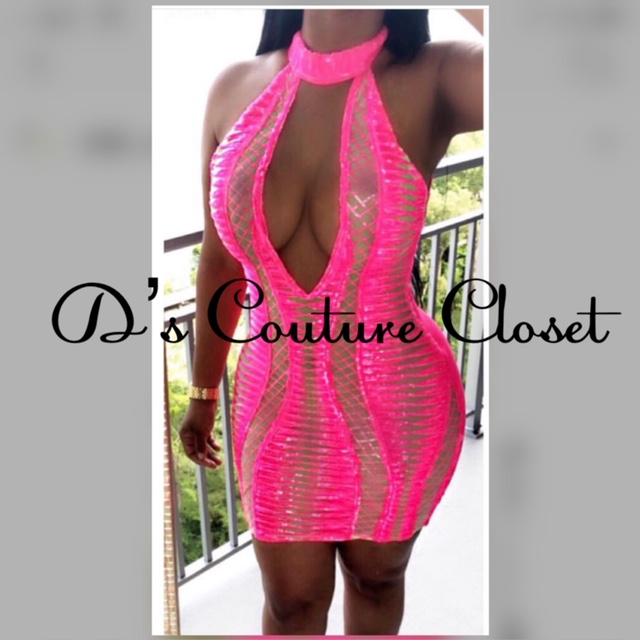 Leila's Glam Hot PinK Dress-