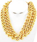 Double Chunky Chain  Necklace-