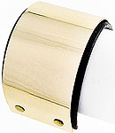 Gold Metal and Leather Cuff Bracelet-