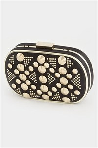 Diva's Studded Clutch-