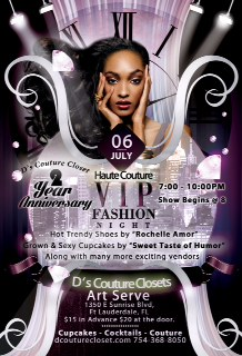 Haute Couture Event Ticket-