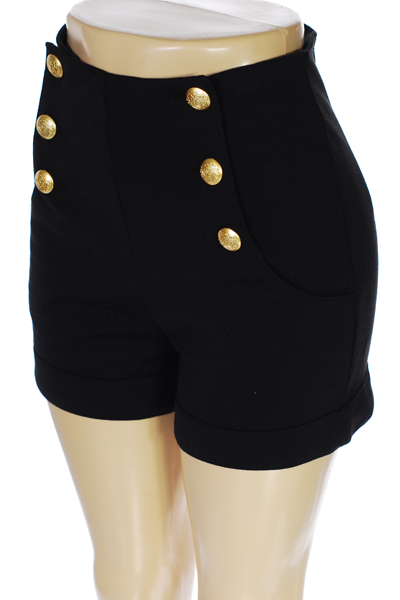 High Waisted Sailor Shorts