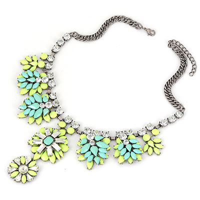 Paparazzi MInty Neon Couture Necklace-
