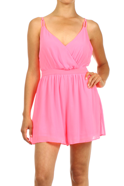 Flirting with Hot Pink Romper-