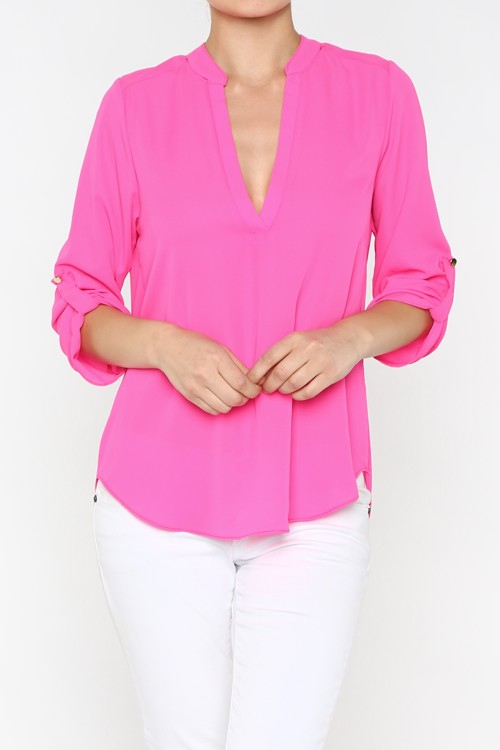 Pretty Hot Pink Blouse-