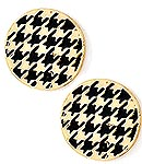Houndstooth Button Earrings-
