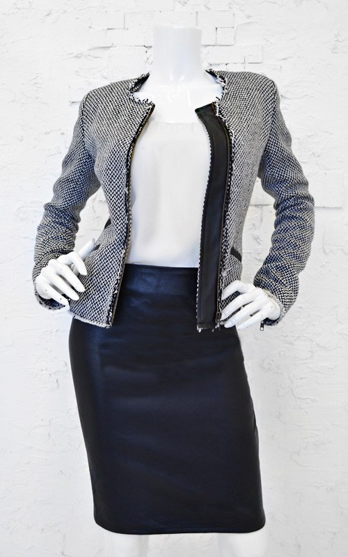 Miss D's Leather Pencil Skirt-