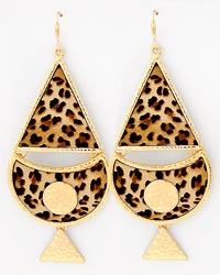 Leopard Triangle Earring Set-