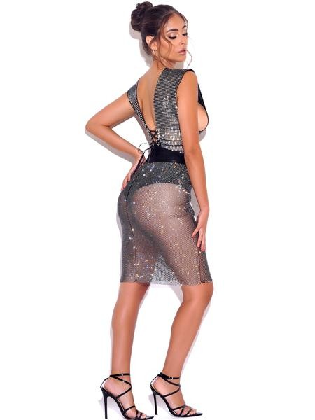 Life of The Party Diamond Skirt-