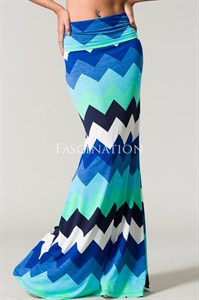 Missoni Print Multi Blues Skirt-