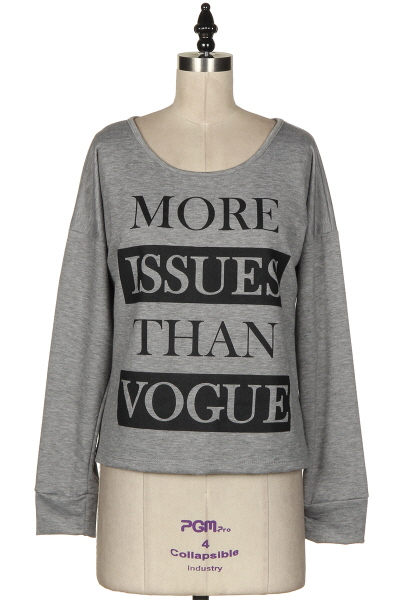 More Issues Than Vogue Long Sleeve Top-