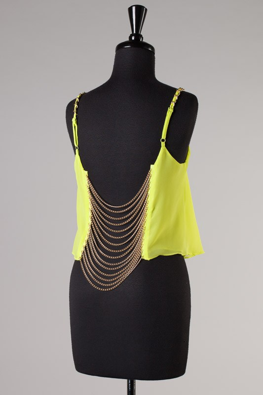 Summer Fling Chain Back Top-