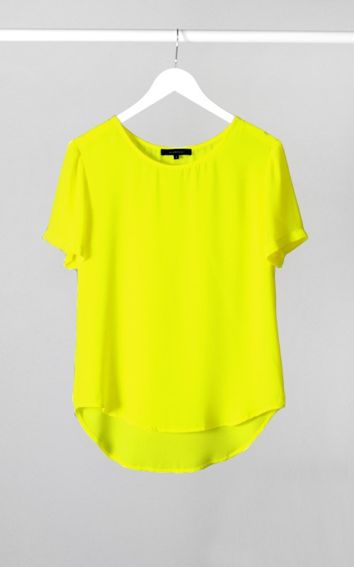 Fashion Highs & Low Neon Top-