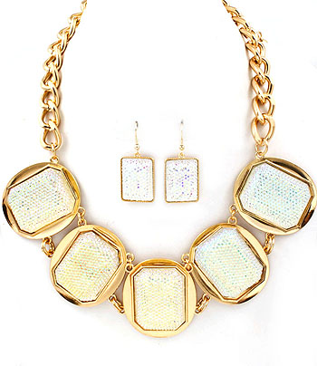 5 Squared Necklace Set-