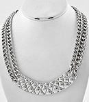 Quilted Plate Necklace-
