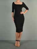 Kim K Scoop Neck Midi-
