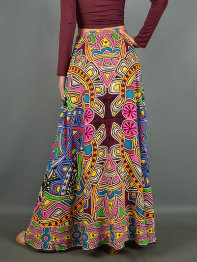 Spring Tribal Maxi Skirt-